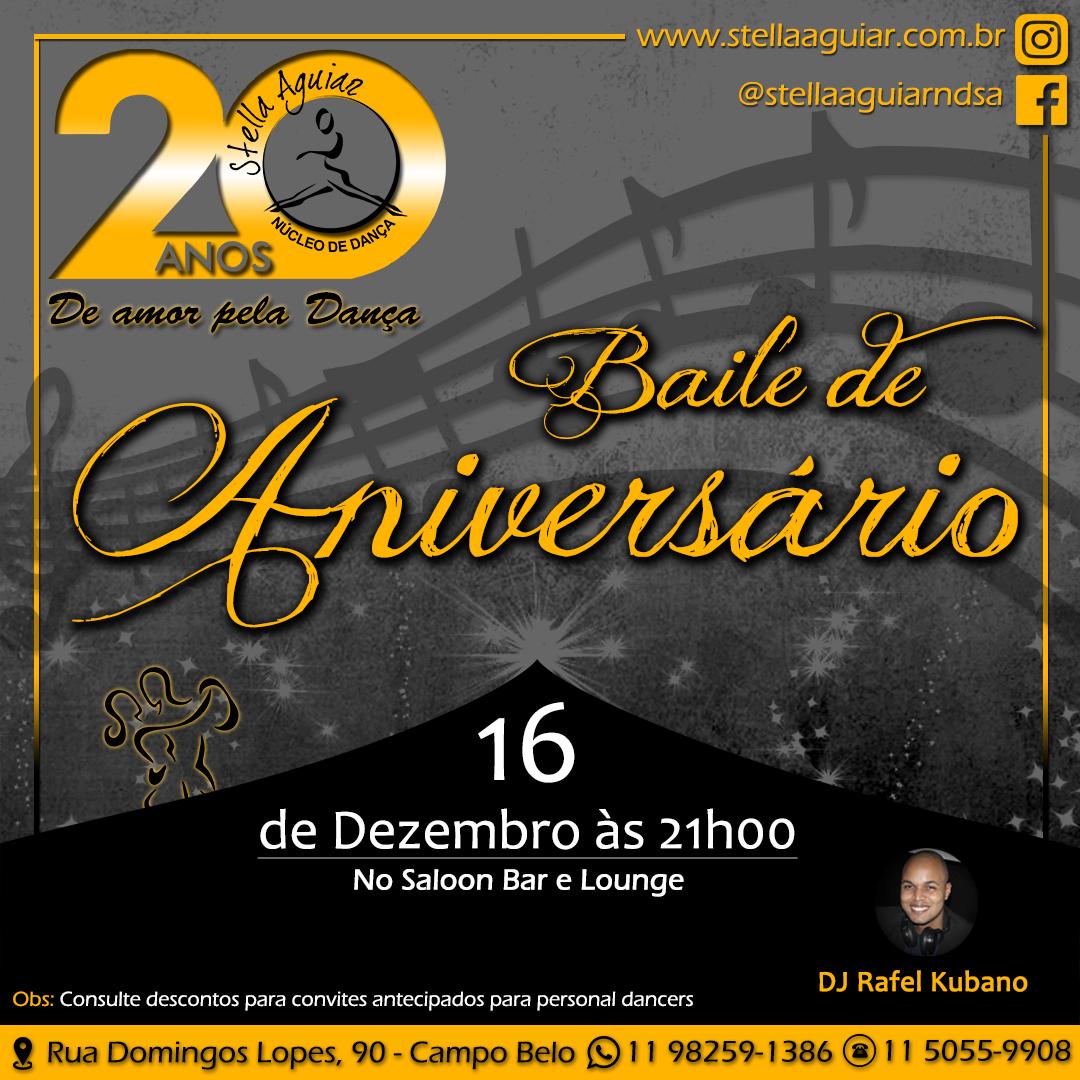BAILE DE ANIVERSÁRIO 20 ANOS