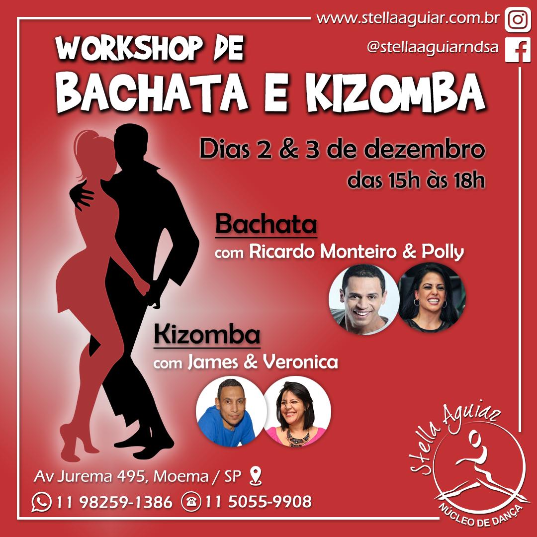 WORKSHOP DE BACHATA E KIZOMBA