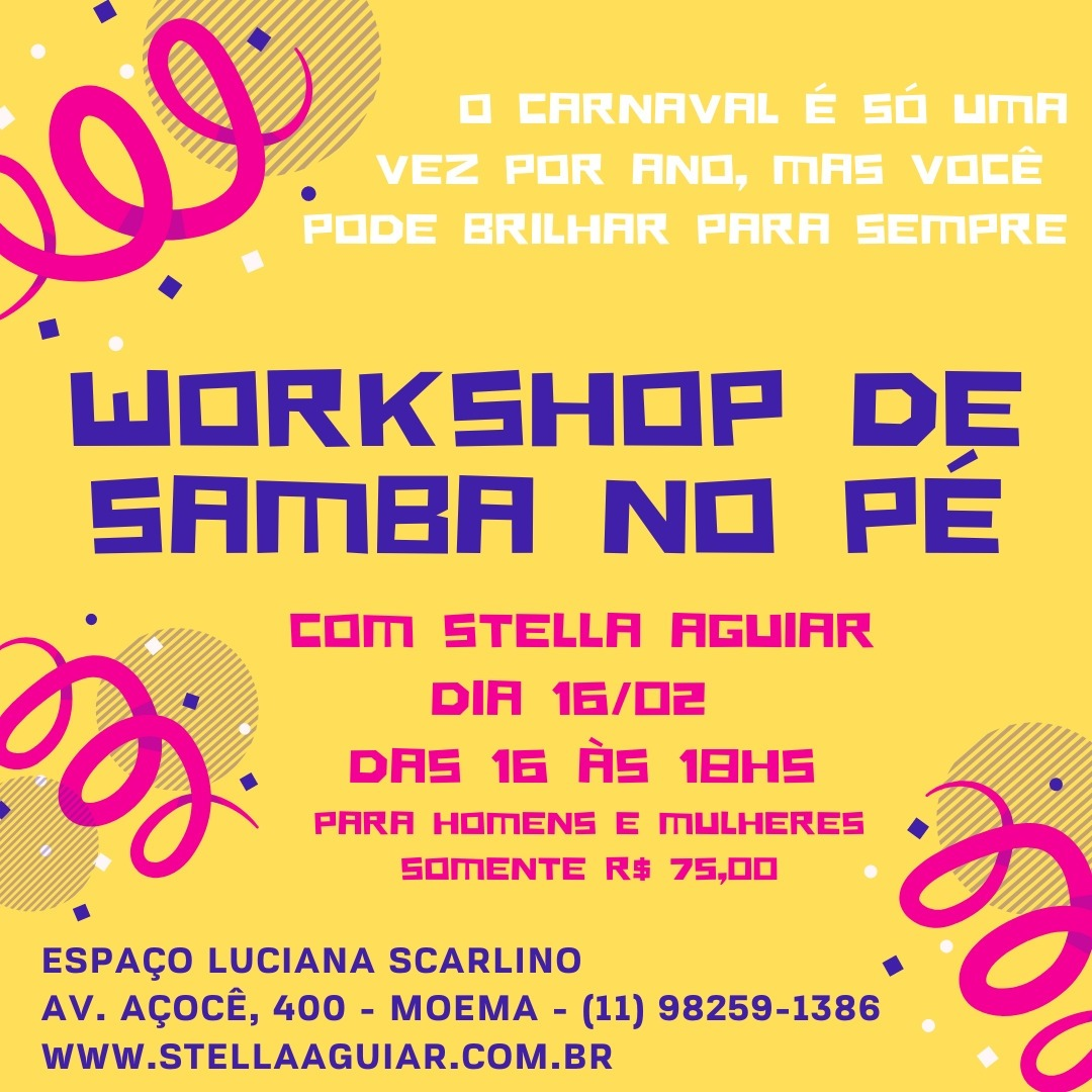 WORKSHOP DE SAMBA NO PÉ